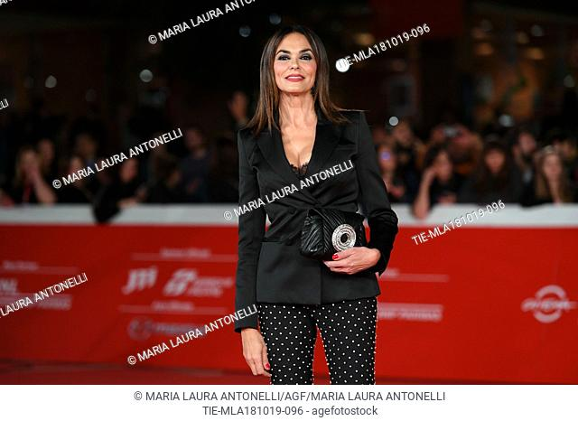 Maria Grazia Cucinotta during the red carpet of film Motherless Brooklyn at the 14th Rome Film Festival, Rome, ITALY-17-10-2019
