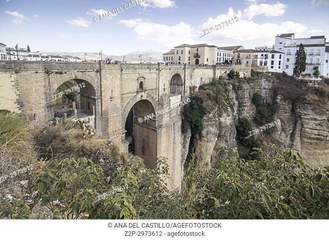 Ronda Bridge Malaga province, Andalusia, Spain
