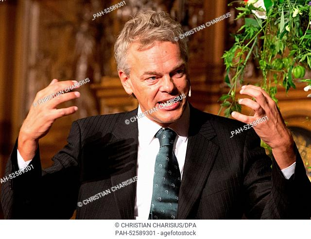(FILE) - An archived picture, dated 05 September 2014, shows brain scientist Edvard Moser from Norway after being awarded the Koerber prize for European science...