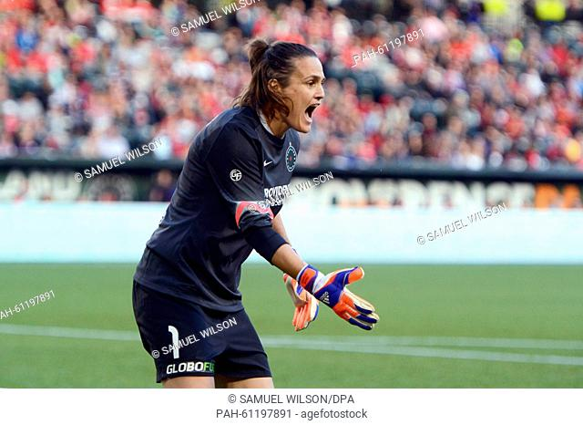 Portland Thorns goalkeeper Nadine Angerer in action during her last home match of the season of the Portland Thorns against the Washington Spirit of the...