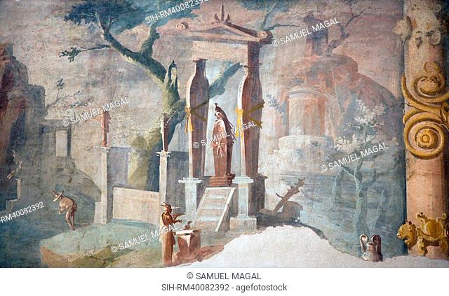 Italy, Naples National Archeological Museum, from Pompeii, Isis Temple, Ceremony in Honor of Osiris