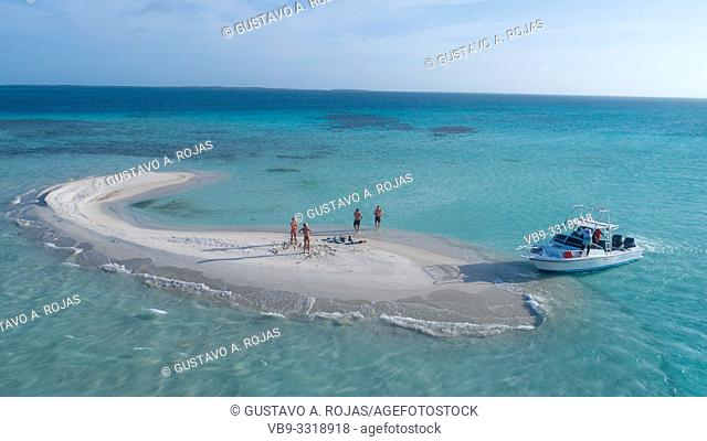 aerial view sardina los roques venezuela