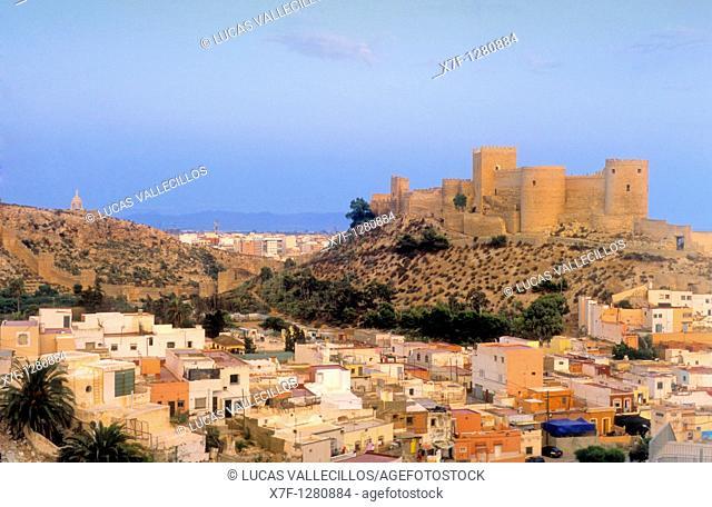 Alcazaba and neighborhood of la Chanca  Almeria  Andalucia, Spain