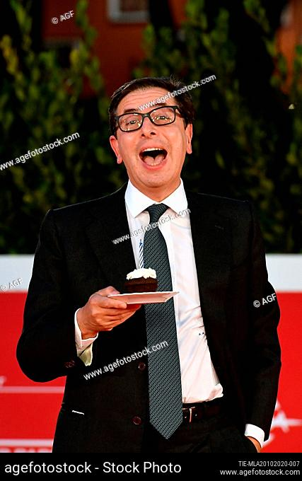 "Antonio Monda attends the red carpet of the movie """"Fortuna"""" during the 15th Rome Film Festival on October 19, 2020 in Rome, Italy"