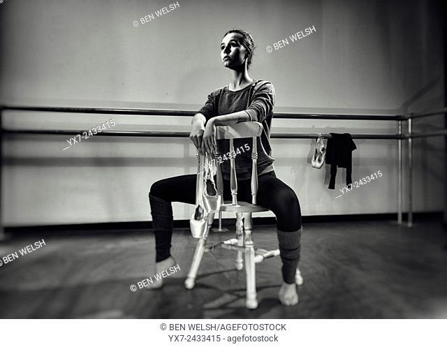 Dancer in a studio