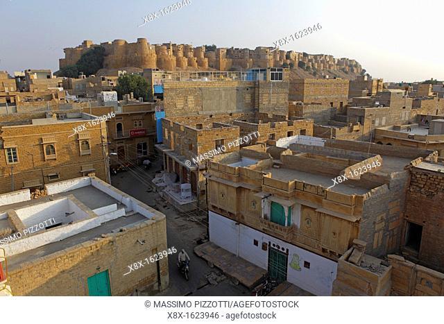 Panoramic view of the Jaisalmer Fort, Jaisalmer, India
