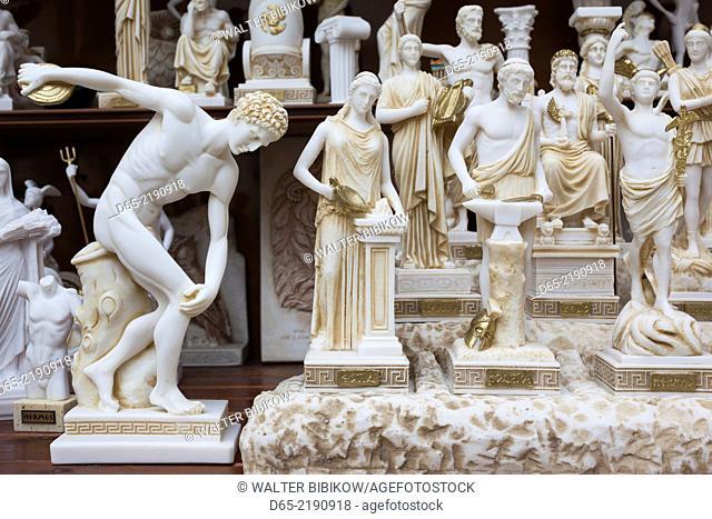 Greece, Epirus Region, Parga, souvenir figures of figures from Greek mythology