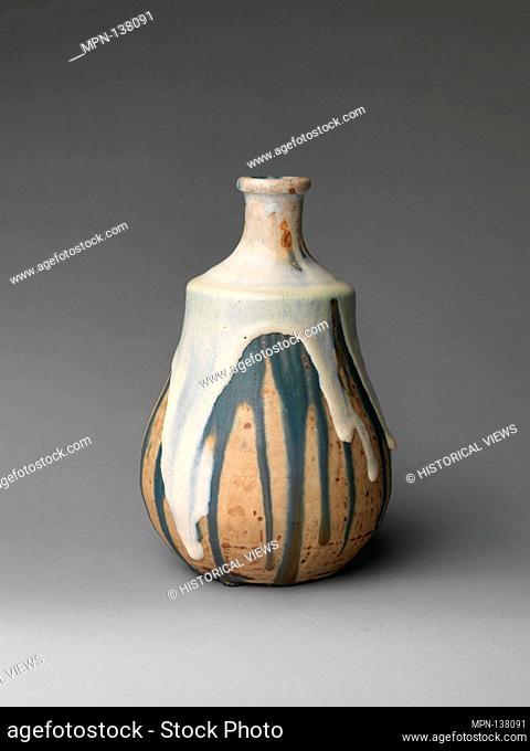 Gourd vase. Maker: Jean-Joseph Carriès (French, 1855-1894); Date: ca. 1890; Culture: French, Saint-Amand-en-Puisaye; Medium: Stoneware; Dimensions: 9 3/4 x 6...