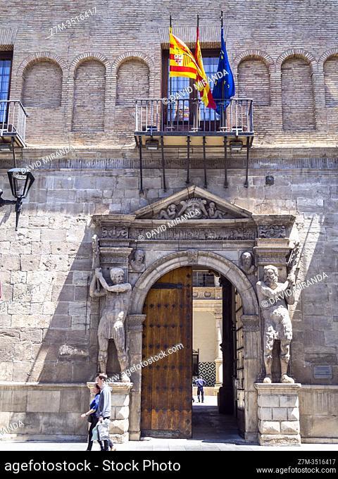 Palacio de los Luna. Zaragoza. Aragón. España