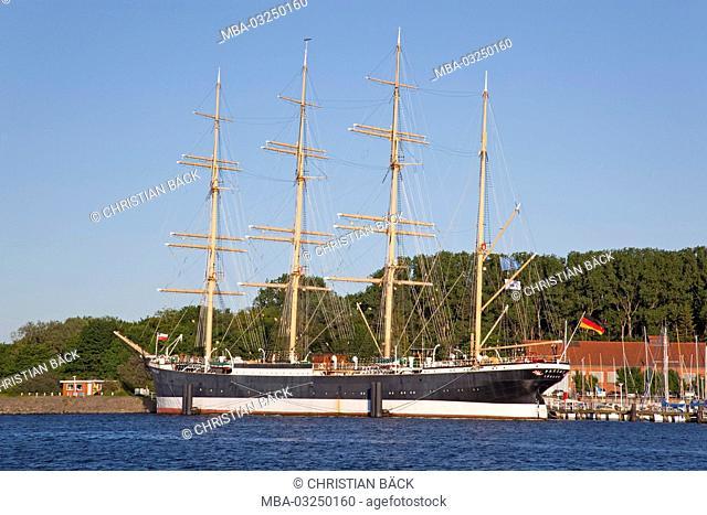 Four-masted barque Passat in Travemünde, near Hanseatic town Lübeck in Schleswig - Holstein, North Germany, Germany