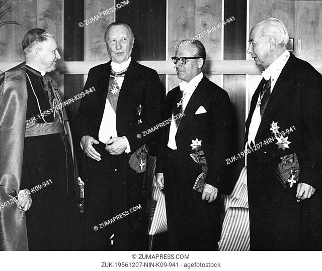 Dec. 7, 1956 - Bonn, Germany - West Germany's first chancellor KONRAD ADENAUER began his career in politics as a member of the Cologne City Council