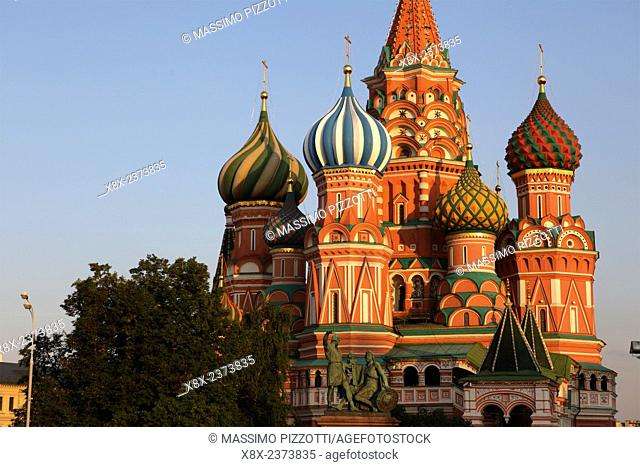 Saint Basil's Cathedral, or Cathedral of Vasily the Blessed, in the Red Square, Moscow, Russia