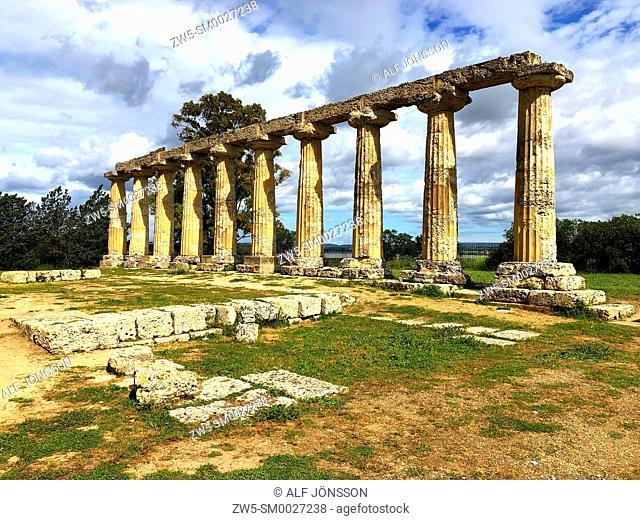 Greek temple in Metaponto, Basilicata, Italy
