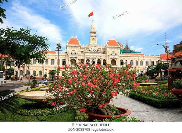 Hi Chi Minh City hall in Saigon