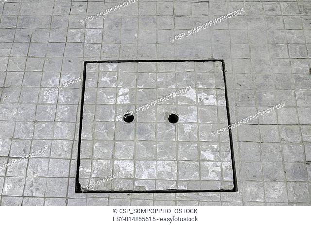Concrete sewer manhole cover