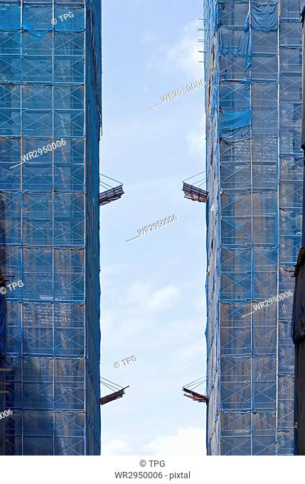 Buildings under construction, real estate