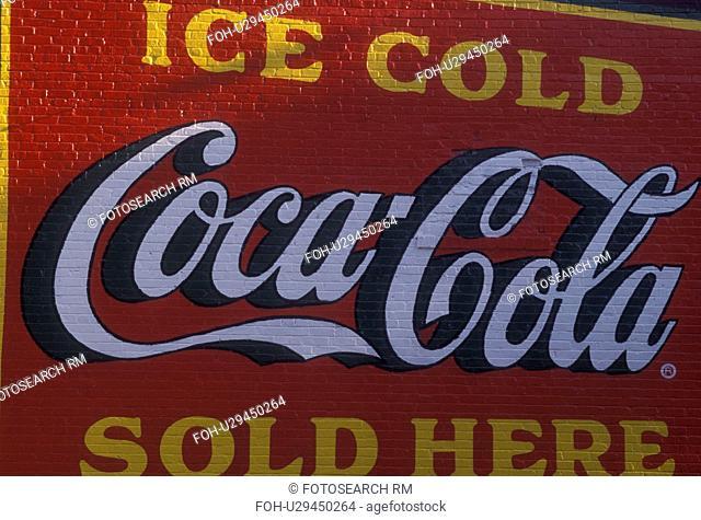 Atlanta, GA, Georgia, Coca-Cola wall mural, Virginia Highland