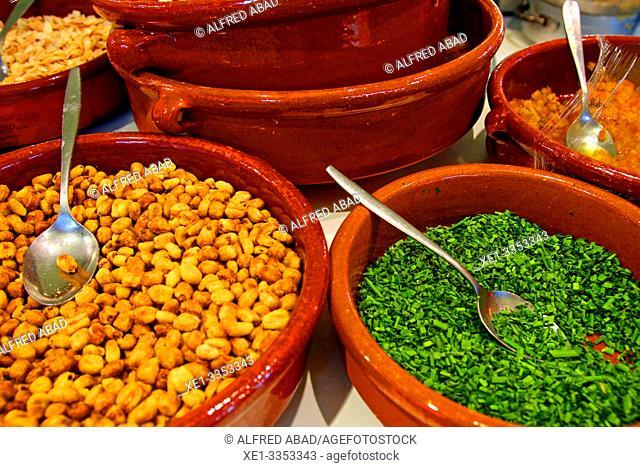 prepared dishes, gastronomic festival 'Tast a la Rambla', 6th Gastronomy Week of Barcelona, Catalonia, Spain
