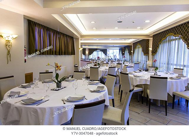 Celebration room in restaurant Urrunaga. Legutiano, Alava, Basque Country, Spain