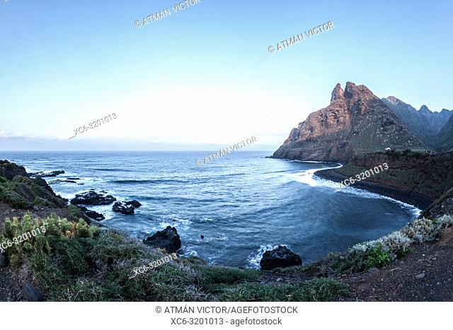 coast landscape of Punta del Hidalgo (Tenerife). Canary Islands, Spain