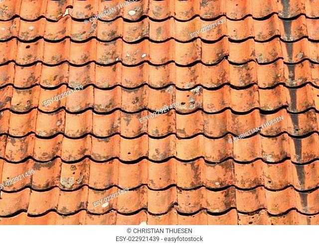 Red grunge clay roof tile background