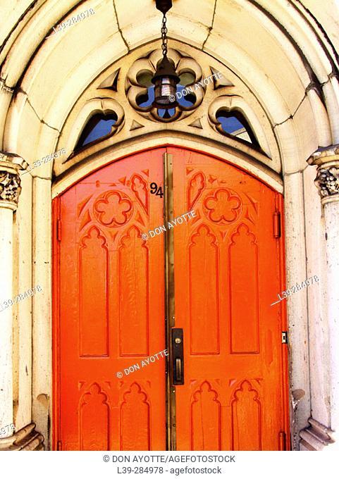 Doorway on 5th Avenue, New York City. USA