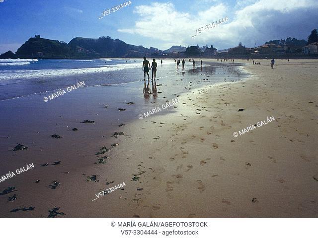 Santa Marina beach. Ribadesella, Asturias, Spain