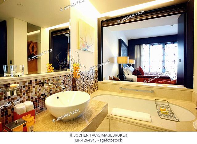 Bathroom, room, suite, luxury hotel The Address, part of Downtown Dubai, United Arab Emirates, Middle East