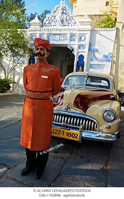 Shiv Niwas Hotel within City Palace Gates  Udaipur  Rajasthan  India