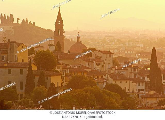 Oltrarno quarter at dawn, Florence, Tuscany, Italy, Europe