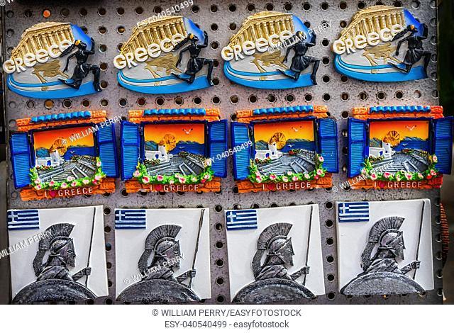 Greek Warrior Parthenon Windmill Magnets Athens Greece