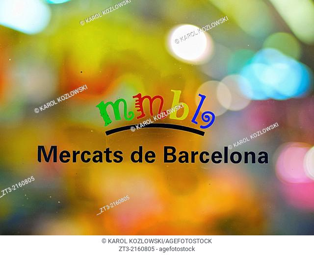 Detail of Mercat de Santa Caterina - Fresh Food Market in Barcelona, Catalonia, Spain