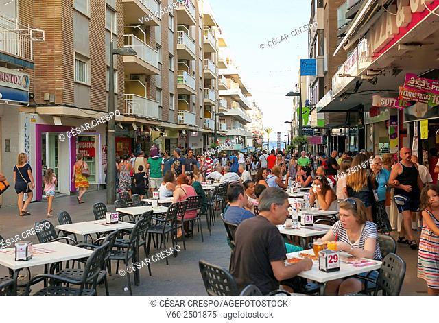 -Terraces in Benidorm's Streets- Alicante Spain