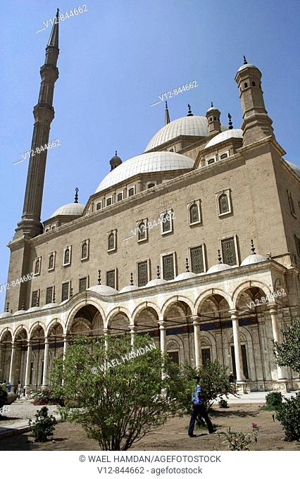 The landmark Mohammed Ali mosque Alabaster mosque on top of Saladin Al Aywbi citadel in Cairo  Egypt