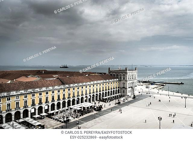 Plaza of Commerce, Lisbon, Portugal, Europe