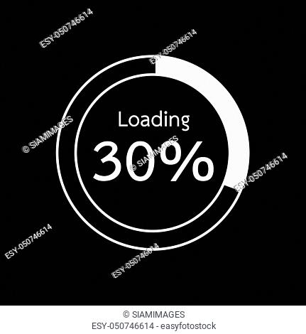 Circle Loading, Progress Bars indicator Icon Illustration design