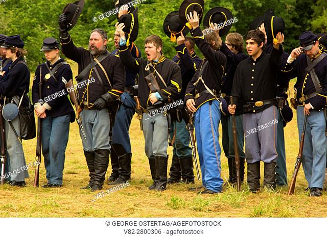 Union soldiers, Civil War Reenactment, Willamette Mission State Park, Oregon