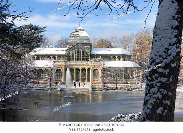 Palacio de Cristal  Retiro park  Madrid  Spain