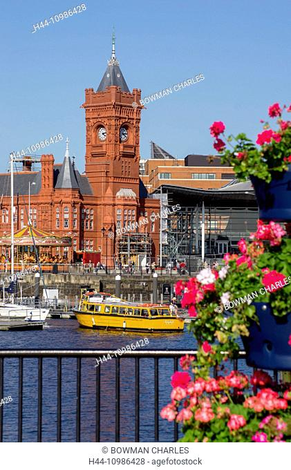 Pierhead building in Cardiff city, Wales