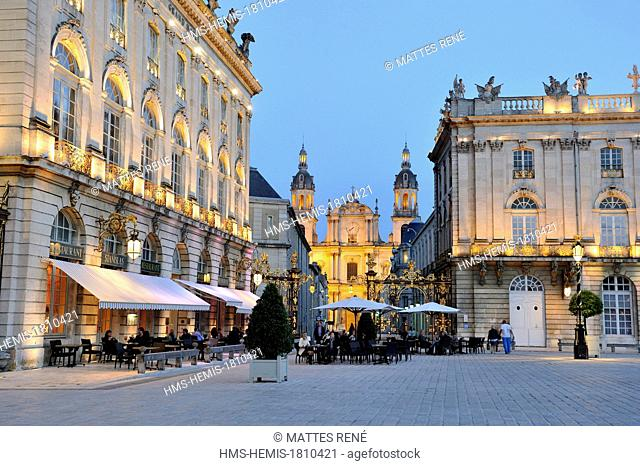 France, Meurthe et Moselle, Nancy, Place Stanislas (former Place Royale) built by Stanislas Leszczynski in the 18th century, listed as World Heritage by UNESCO