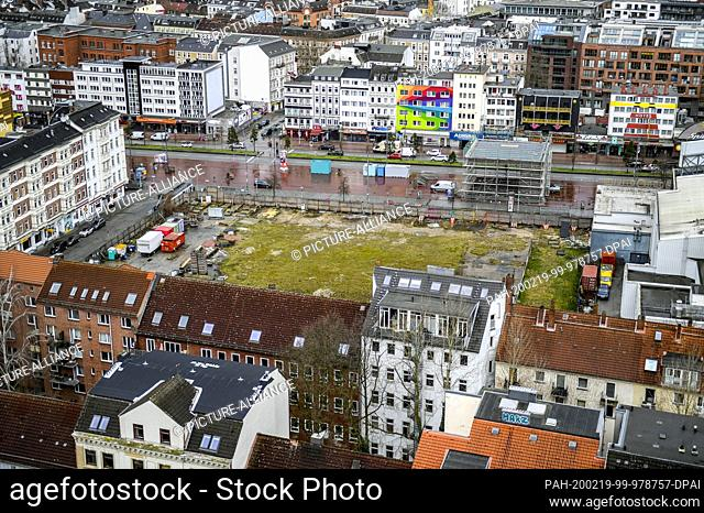 19 February 2020, Hamburg: The building site in the Paloma district, where the so-called Esso houses stood, which were demolished in 2014
