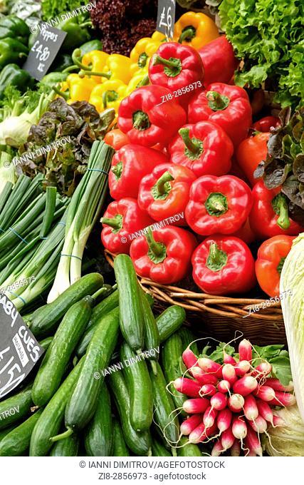 Fresh vegetables on sale