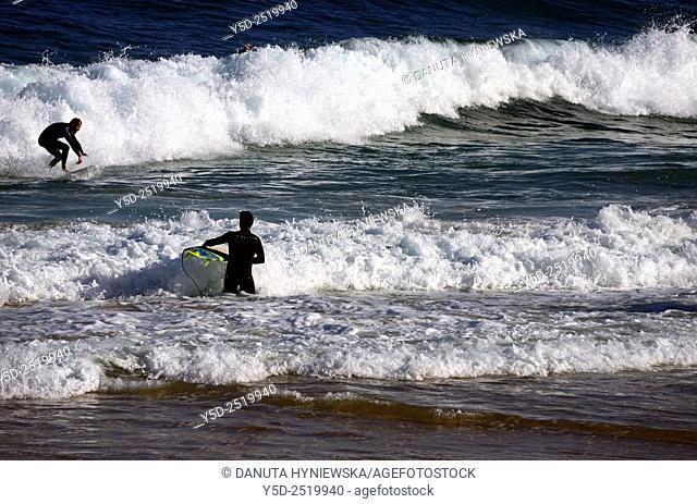Europe, Portugal, Algarve, Sagres, Costa Vicentina, Mareta beach, surfers paradise
