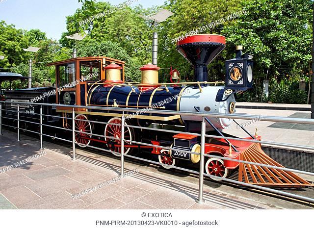 Toy train at amusement park, Kankaria Lake, Ahmedabad, Gujarat, India
