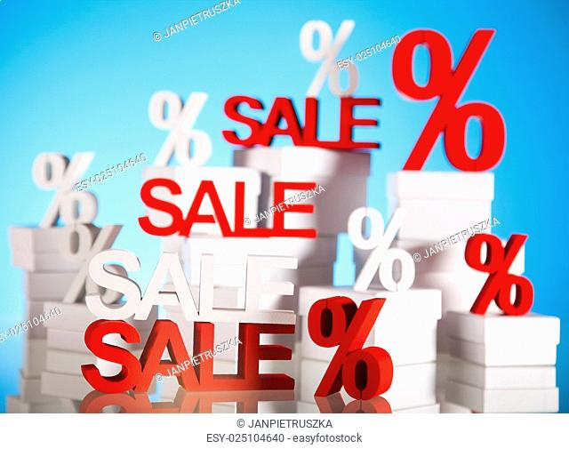 Sale signs, natural colorful tone