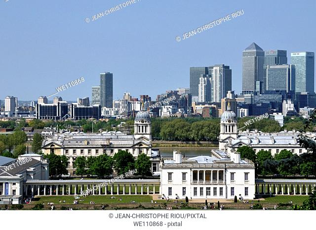 View of London from Greenwich, England, UK