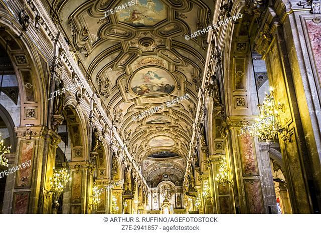 Interior of Metropolitan Cathedral of Santiago, Chile, South America