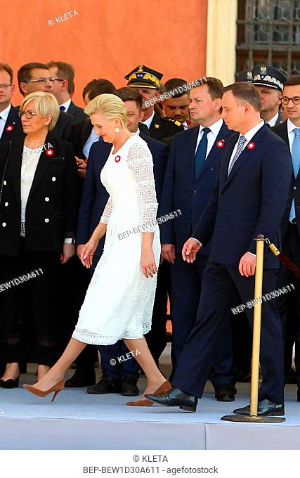May 3rd, 2018. Warsaw, Poland. Presidential Couple during holy mass for the intention of Poland