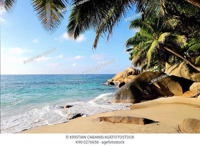 Beach on Mahe, Seychelles, Indian Ocean, Africa