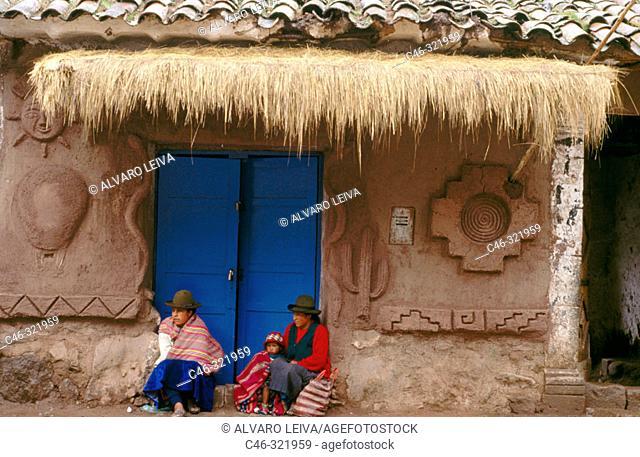 House on main square. Pisac. Peru